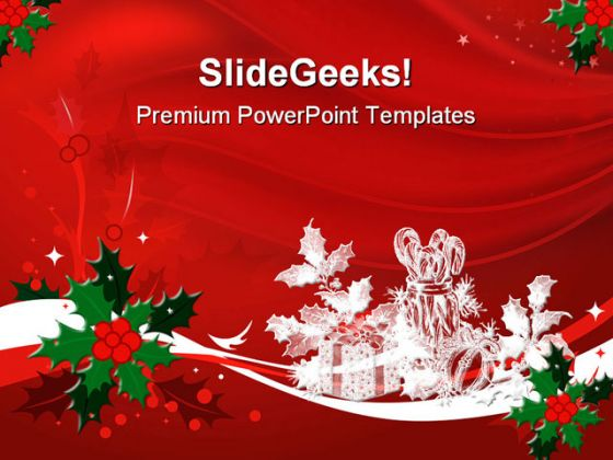 red christmas powerpoint template 0610. Black Bedroom Furniture Sets. Home Design Ideas